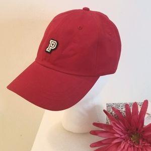 """PINK Victoria's Secret """"P"""" Hot Pink Baseball Cap"""